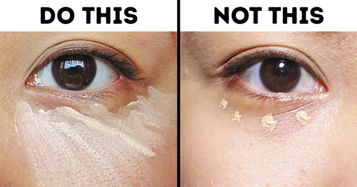 Make a triangle for concealers