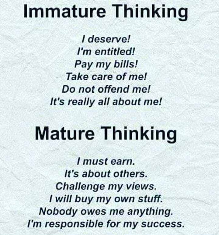 Difference Between A Mature And Immature Girl