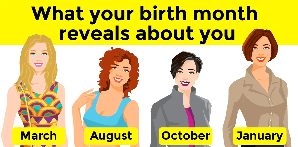 What Does Your Birth Month Reveal About You? - Banter fun