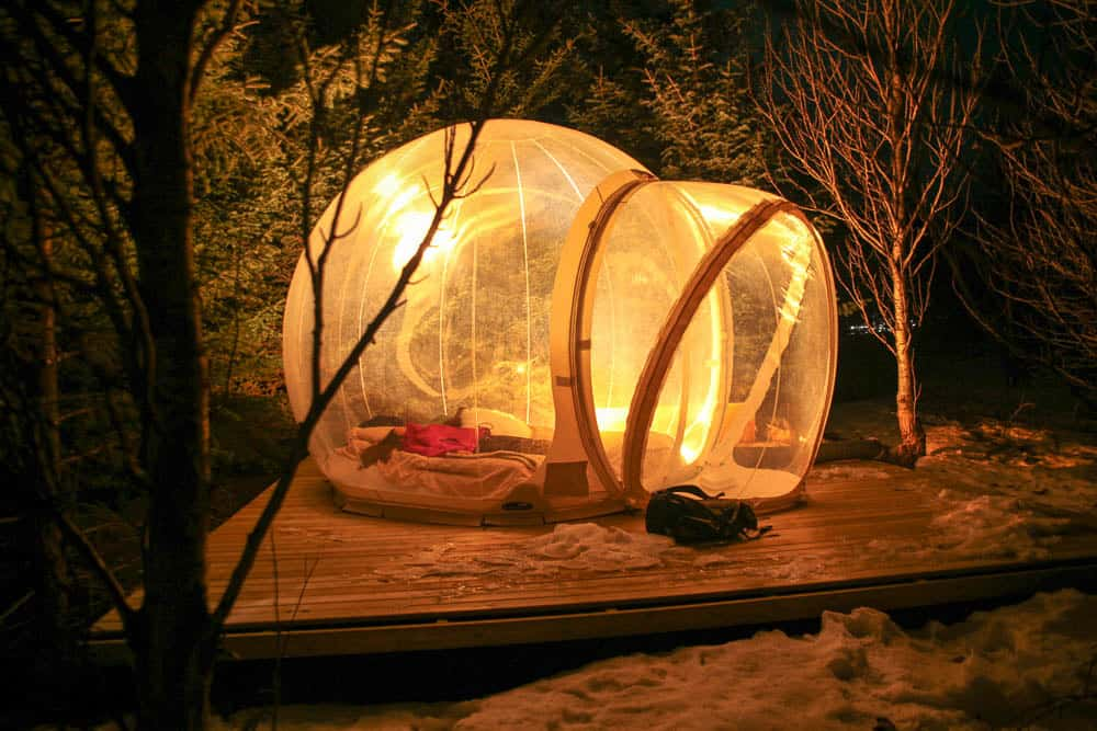 Bubble hotel to see northern lights