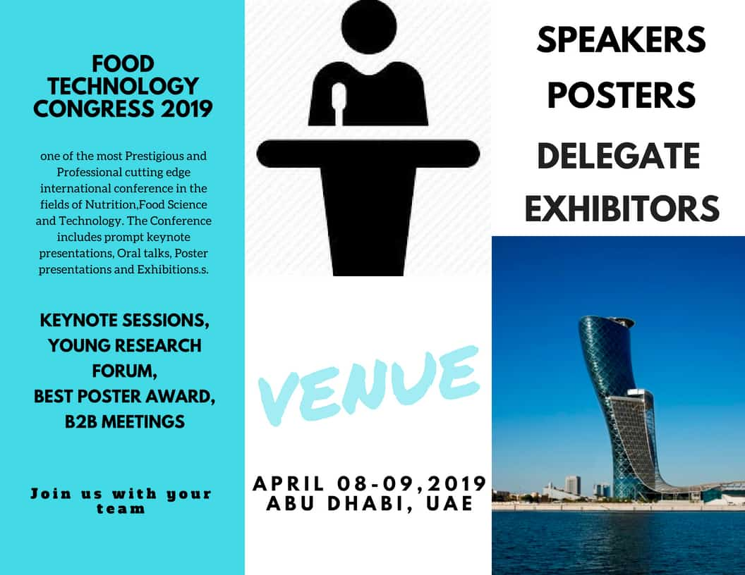 Food Technology Congress 2019 One day could change your life