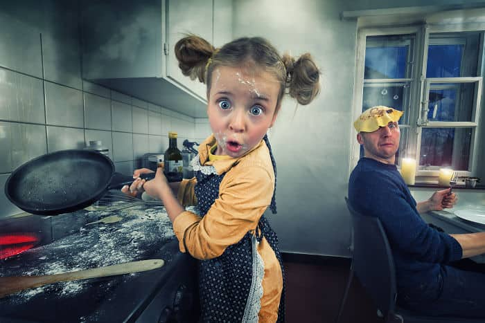 Dad photoshops his daughter photos is too creative