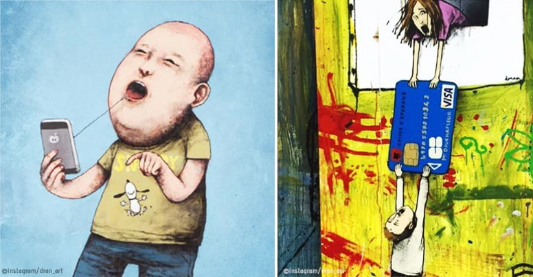 Have a look at the satirical art all the way from France