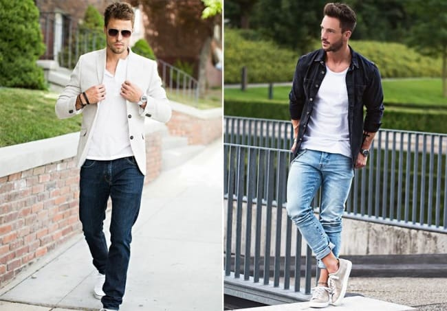 The woman completely loves this clothing on men