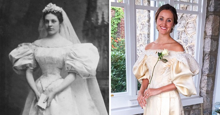Women choose to wear their mother or grandmother's wedding dress