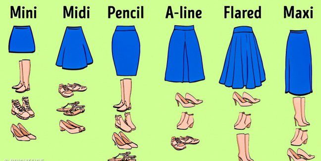 Match your skirt with your shoes correctly