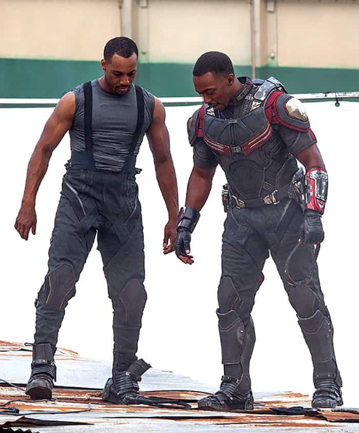 Character: Falcon; Actor: Anthony Mackie, Stunt Double: Aaron Toney