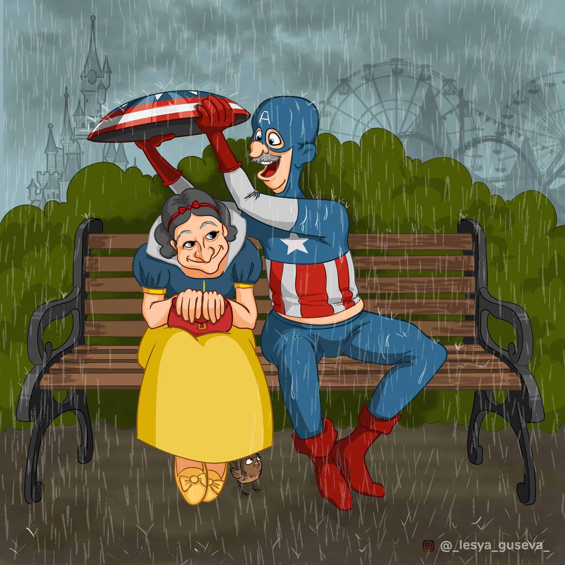 Snow White with Captain America: Once a Captain, always a Captain