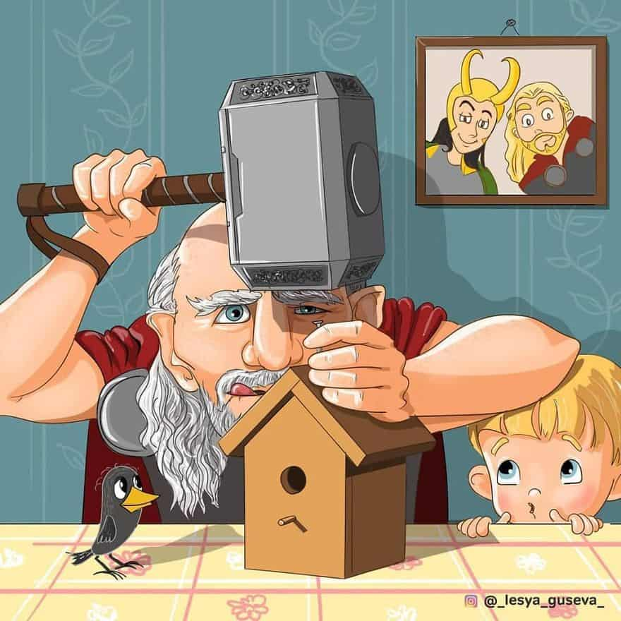 Thor: Birdhouse for grandson